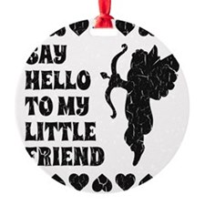Vintage My Little Friend Cupid Funn Ornament