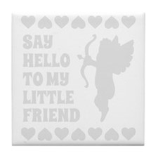 Light Heart Cupid Little Friend Valen Tile Coaster