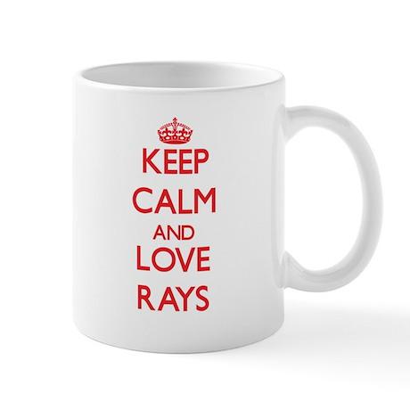 Keep calm and love Rays Mugs