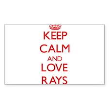 Keep calm and love Rays Decal