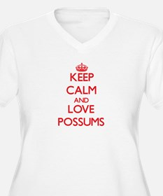 Keep calm and love Possums Plus Size T-Shirt