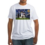 Starry/2 Aussies (scarves) Fitted T-Shirt
