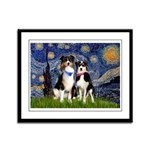 Starry/2 Aussies (scarves) Framed Panel Print