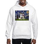 Starry/2 Aussies (scarves) Hooded Sweatshirt