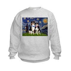 Starry/2 Aussies (scarves) Sweatshirt