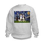 Starry/2 Aussies (scarves) Kids Sweatshirt