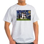 Starry/2 Aussies (scarves) Light T-Shirt