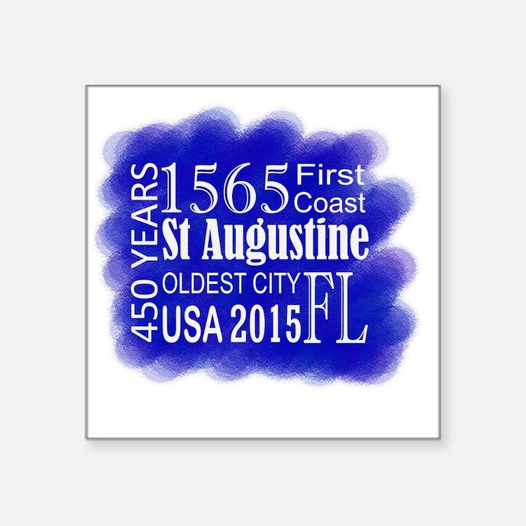 """450th Anniversary in Blue Square Sticker 3"""" x 3"""""""