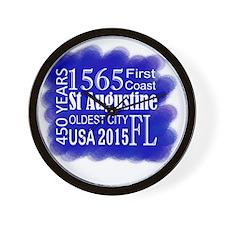 450th Anniversary in Blue Wall Clock