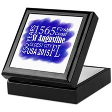 450th Anniversary in Blue Keepsake Box