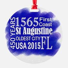 450th Anniversary in Blue Ornament