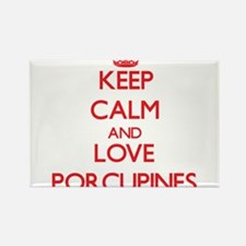 Keep calm and love Porcupines Magnets