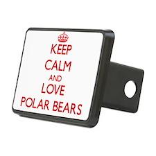 Keep calm and love Polar Bears Hitch Cover