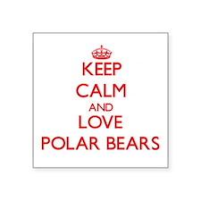Keep calm and love Polar Bears Sticker