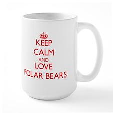Keep calm and love Polar Bears Mugs