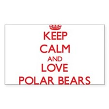 Keep calm and love Polar Bears Decal