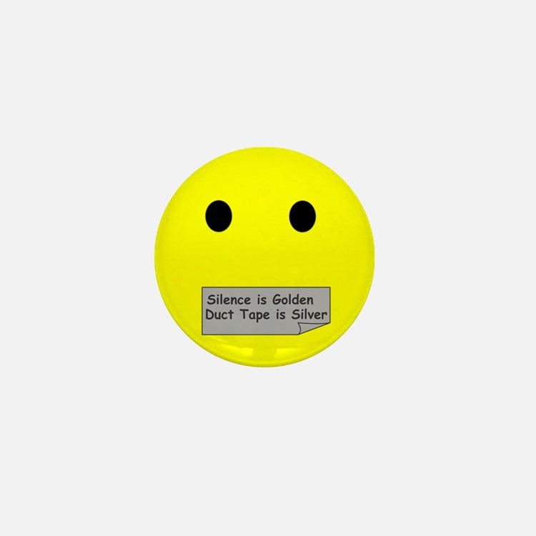 silence is golden Mini Button (10 pack)