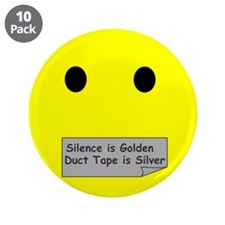 "silence is golden 3.5"" Button (10 pack)"