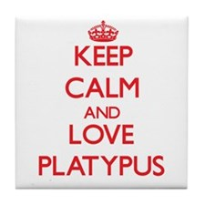 Keep calm and love Platypus Tile Coaster