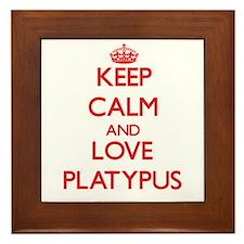Keep calm and love Platypus Framed Tile