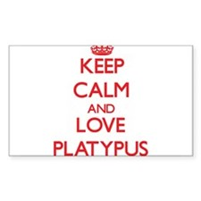 Keep calm and love Platypus Decal