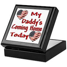Daddy's Coming Home Keepsake Box
