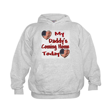 Daddy's Coming Home Kids Hoodie