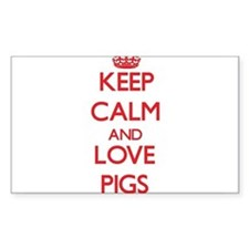 Keep calm and love Pigs Decal