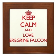 Keep calm and love Peregrine Falcons Framed Tile