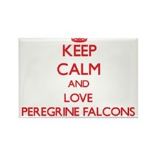 Keep calm and love Peregrine Falcons Magnets