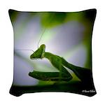 Praying Mantis Woven Throw Pillow
