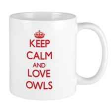 Keep calm and love Owls Mugs