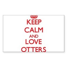 Keep calm and love Otters Decal