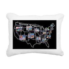 Road trip across the 48  Rectangular Canvas Pillow