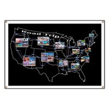 Road trip across the 48 states Banner