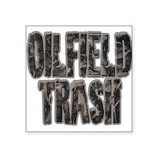 Oilfield Trash Riveted Metal Sticker
