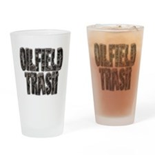 Oilfield Trash Riveted Metal Drinking Glass