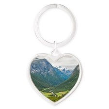 Norway11 Heart Keychain