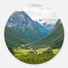 Norway11 Round Car Magnet
