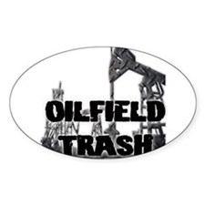 Oilfield Trash Diamond Plate Decal