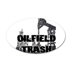 Oilfield Trash Diamond Plate Wall Decal