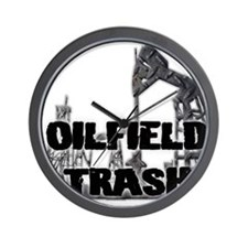 Oilfield Trash Diamond Plate Wall Clock