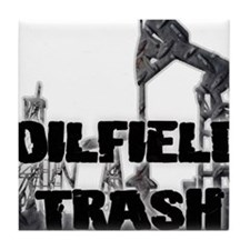 Oilfield Trash Diamond Plate Tile Coaster