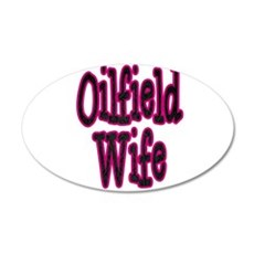 Oilfield Wife Pink Damask Wall Decal