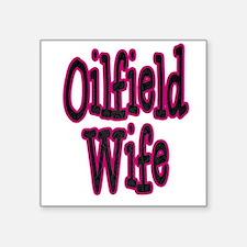 Oilfield Wife Pink Damask Sticker