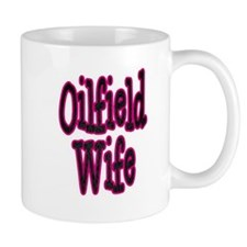 Oilfield Wife Pink Damask Mugs