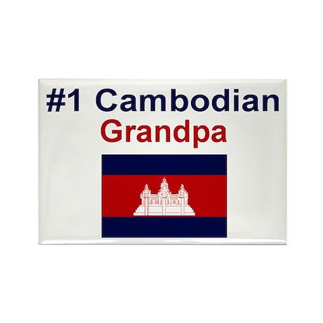 #1 Cambodian Grandpa Rectangle Magnet