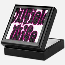 Pink Oilfield Wife Damask Keepsake Box
