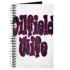 Pink Oilfield Wife Damask Journal