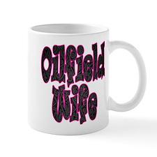 Pink Oilfield Wife Damask Mugs